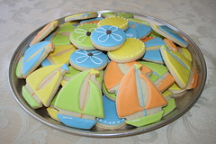 Cookie Platter (irresistibledesserts) Tags: boy boats cross baptism christening cookieplatter