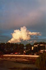 pasajera (NenaRayo) Tags: sky cloud film rio analog river uruguay agua sommer himmel wolken cielo plata nubes verano colonia zenit fluss nube analogica sudamerica