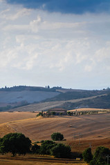 SS146, Pienza (MikePScott) Tags: camera trees sky italy clouds lens italia hills tuscany cypress siena pienza toscana topography pinuspinea nikon18200mmf3556 nikond300 ss146 featureslandmarks dichianciano