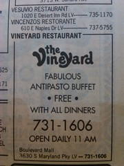 Vineyard Restaurant 1994 (frankasu03) Tags: las vegas yellow restaurants page 90s listings
