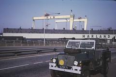 Air-Portable Land Rover Sydenham By-Pass, East Belfast 1974 (Cold War Warrior) Tags: belfast landrover harlandwolff