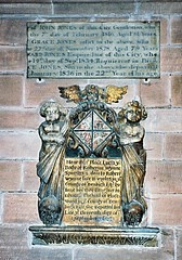 Chester, St John the Baptist (jmc4 - Church Explorer) Tags: church monument angel skull jones cheshire chester cherub wynne thelwall woolas