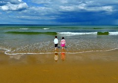 Looking out to sea (jasonmgabriel) Tags: sea beach clouds sands reighton