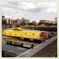 Yellow submarine!! (tofu_catgirl) Tags: yellow liverpool fun hotel boat dock albert noflash submarine novelty beatles fab4 hipstamatic janelens inas1982film