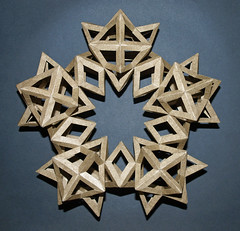 Wreath of Cuboctahedron (mganans) Tags: polyhedron origamimodular edgeunit