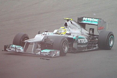 Nico Rosberg in his Mercedes at Silverstone