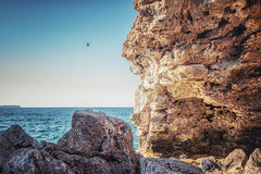 Yours to Discover... (Lychee_Aloe) Tags: sea summer seagulls ontario canada nature water landscape outdoors photography bay rocks natural hiking bruce trails niagara cliffs yours grotto georgian adventures peninsula formations discover escarpment the geological 550d