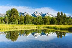 Mountain Mirror (ZacharyG) Tags: mountain reflection bravo grandtetonnationalpark