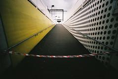 Danger (@fotodudenz) Tags: film station yellow danger train ramp voigtlander bessa wide platform australia rangefinder victoria richmond tape l 12mm dots ultra 2012 heliar withziz believeinfilm