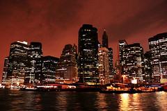 Skyline (Dehlia Calliste) Tags: city nyc water skyline buildings lights bay