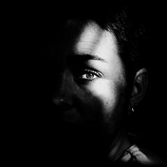 Empreinte (Christine Lebrasseur) Tags: portrait people blackandwhite woman france eye art 6x6 canon fr onblack gironde 500x500 ltytrx5 corinneb saintloubes allrightsreservedchristinelebrasseur