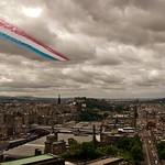 Red Arrows fly-past in Edinburgh / Passaggio delle Red Arrows su Edimburgo