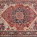 129. Semi-antique Heriz Room Size Carpet