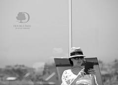 Hilton (Rafe Abrook Photography) Tags: glass pool hat sunglasses turkey reading hotel book hilton istanbul swimmingpool tablet 5star doubletree sunbathe kadikoy kindle