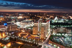 Aerial veiw of Providence and WaterFire