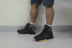 NIKE Hyperdunk in leg irons (asiancuffs) Tags: sneakers nike shackles shackled handcuffs