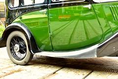 Green Coachwork (Nanny Bean) Tags: greenthings hulleastridingmuseum reflectionsincars coachwork tramlines
