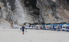 Mirtos Beach Kefalonia (Mark Walker58) Tags: mirtos beach kefalonia outdoor parasol sea sunbeds cliffs rocks