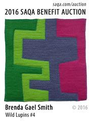 Wild Lupines #4 by Brenda Gael Smith (saqaart) Tags: artquilts saqa fiberart quilts textiles artwork stitched layered