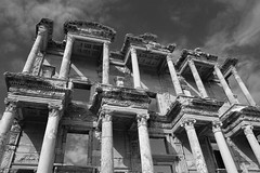 Library of Celsus, Ephesus (C. Alice) Tags:  turkey 2011 sigma1770mm sigma history architecture building canon eos sky blackwhite bw cloudy clouds eos7d travel favorites30 ngc