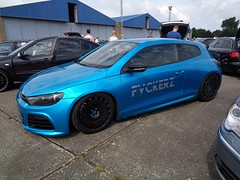VW Scirocco R (911gt2rs) Tags: treffen meeting show tuning tief low stance coupe typ 13 rotiform ccv blau blue