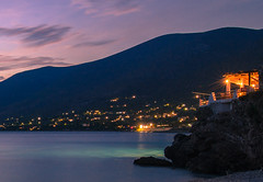 Blue hour (Vagelis Pikoulas) Tags: blue hour long exposure sea seascape landscape night porto germeno greece summer august light cafe sky clouds cloud cloudy 2016 tokina 1628mm canon 6d