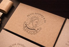Silvia Snchez & Co. (El Calotipo) Tags: letterpress silkscreen identity design logo logotype cardboard recycled businesscards tarjetas usb wood boxes packaging