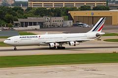 MSP 8/27/2016 (Doug Lambert) Tags: fglzh airbus a340300 a340 airfrance airline msp kmsp minneapolis minnesota airport jet plane airplane aviation