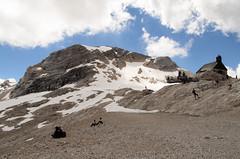 Top of the Zugspitze (sillie_R) Tags: austria cloud germany landscape mountain rock snow zugspitze ehrwald tirol