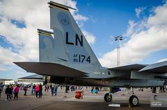 USAFE F-15E Strike Eagle 86-174 (hjakse) Tags: linköping östergötlandslän sverige se malmslätt malmen sweden airshow flygdag huvudflygdag flyguppvisning usafe lakenheath f15e strikeeagle usairforce