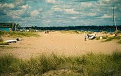 Day at the beach (Sean McCammon) Tags: christchurch beach hut beachut sea sand dayout g6 panasonic boat boats