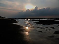 DSCN4135 Reflection (tsuping.liu) Tags: outdoor ocean sky sunset serene sea seaside shore sand beach cloud colorofsky landscape lighting reflection