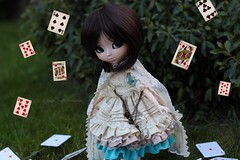 As de pique (Juju DollPassion) Tags: pullip dolls short hair ddalgi brown formydoll obitsu doll custom custo staging alice wonderland
