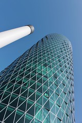 Super Artistic Angle Shot (chearn73) Tags: angle frankfurt germany architecture building city tower glass mirror