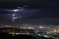 Mayday! We Are Hit! (Lemuel Montejo) Tags: lightning thunder thunderstorm sky night city longexposure