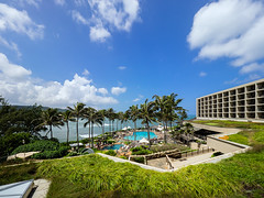Turtle Bay Resort (Jon Wojan) Tags: northshore turtlebay oahu surf surfing olympus omd em1 omdem1 aerial tropic tropics pacific vacation landscape architecture greenroof pool resort outdoors tropical scenic
