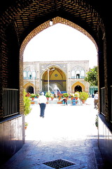 Shah Mosque, Entrance,  Bazar, Tehran      (Parisa Yazdanjoo) Tags: entrance mosque tehran bazar     shahmosque    bazarsmosque