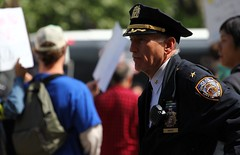 NYPD Chief Anger (tannerjeremy) Tags: nyc work inn day protest broadway may chess unionsquare protester may1 ows occupy saravun