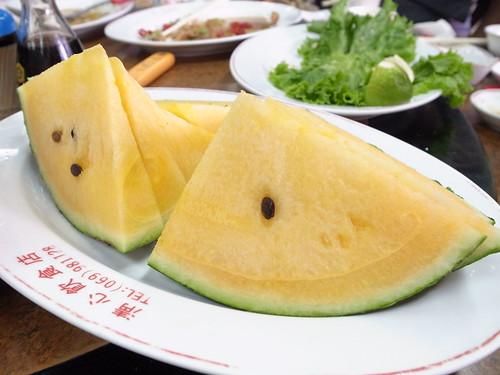 20120505_午餐@清心飲食店_有始有終的西瓜