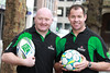 Former Heineken Cup winners Bernard Jackman (Leinster) and Andy Ward (Ulster) were in Dublin today to officially launch Heineken Star Saturday taking place this May 19th. Heineken invites rugby and soccer fans to enjoy the UEFA Champions League final and the Heineken Cup finals in the pub