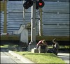 Boys By The Tracks: Taken Out The Window With The Itty Bitty (Sue90ca Spring Has Sprung, The Grass Is Riz.....) Tags: light boys train sony tracks ps dscp93a boysbythetraintracks