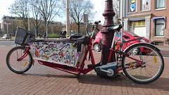 broken chinese E-bakfiets (@WorkCycles) Tags: holland netherlands amsterdam bike bicycle electric junk painted chinese homemade copy fiets chinees bakfiets bso bakfietsen namaak bicycleshapedobject