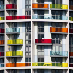 UK - London 2012 - Olympic Park - New housing sq (Darrell Godliman) Tags: color colour building london tower glass architecture colorful apartments view apartment squares balcony flats squareformat highrise vista balconies colourful sq olympicpark modernarchitecture regeneration donaldjudd london2012 colouredglass newham contemporaryarchitecture bsquare olympicsite instantfave stockwoolstencroft omot flickrelite dgphotos iconapoint telfordhomes uklondon2012olympicparknewhousingsqdsc4449