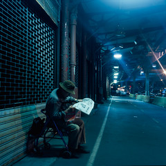 night reading (Barry Yanowitz) Tags: nyc newyorkcity ny newyork 6x6 film mediumformat flickr downtown chinatown fuji manhattan 120film scanned filmcamera nycity t64 rolleicordv fujifujichromet64