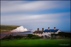 Eastbourne - The White Chalk Cliffs of Seven Sisters (Yen Baet) Tags: uk greatbritain trip travel england cliff seascape nature photography coast photo nationalpark europe european view unitedkingdom britain postcard scenic eastbourne vista coastline british seafront southcoast sevensisters eastsussex southdowns britons yenbaet