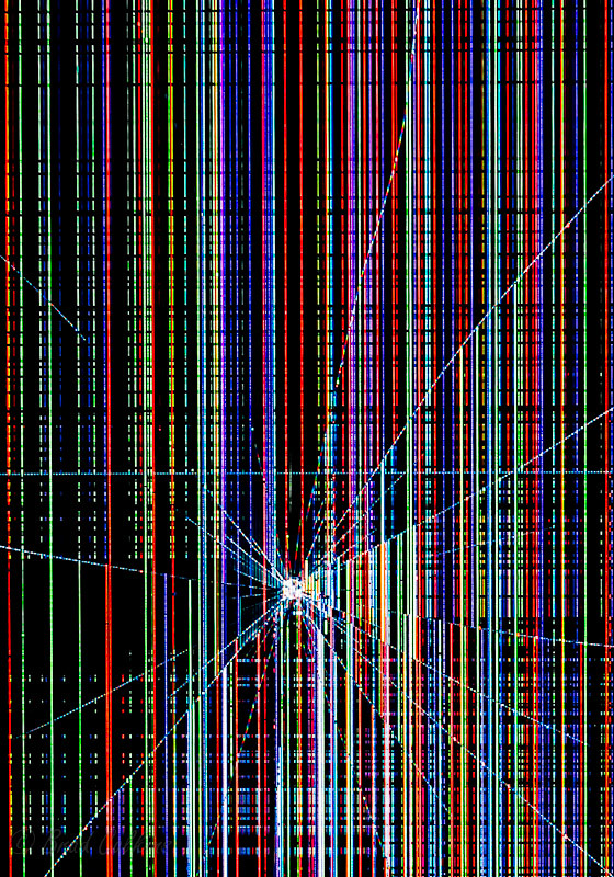 lines on top of tv screen