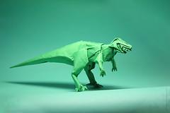 Fumiaki Kawahata. Allosaurus. (kastudio) Tags: paper origami dinosaur raptor allosaurus kawahata fumiaki alexanderkrupnikov