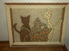 """Quadro """"My Fashion Cats"""" (Atelier na Casinha by Re Molinaro) Tags: feitoàmão quadros cartonmousse patchworkembutido"""