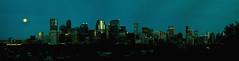 Calgary Skyline (Surrealplaces) Tags: calgary skyline downtown cityscape pano bluehour