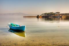Glmarmara (Nejdet Duzen) Tags: trip travel blue lake reflection turkey boat trkiye mavi sandal gl yansma turkei seyahat manisa salihli glmarmara mygearandme